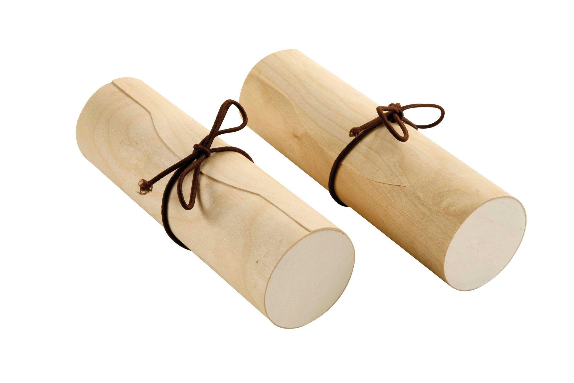 Schatzrolle aus Furnierholz