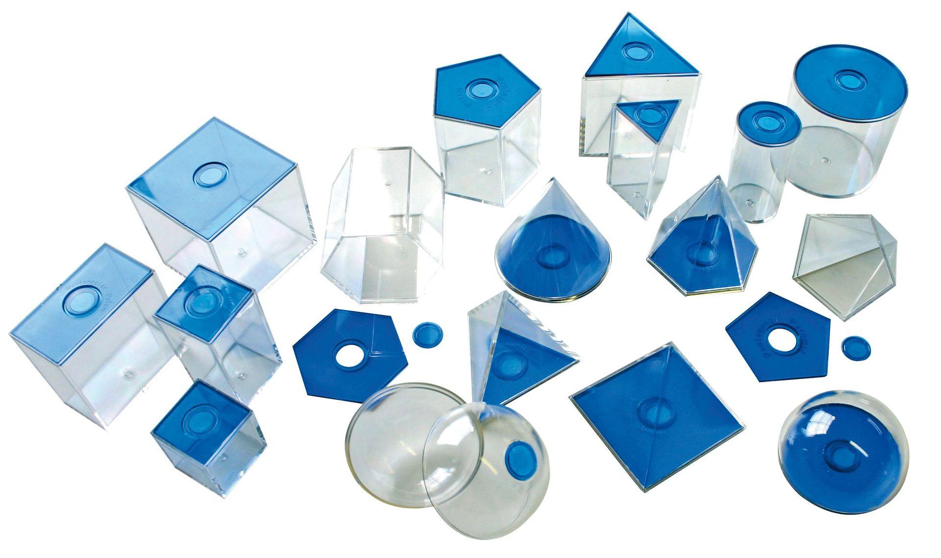 Geometrische Elemente blau