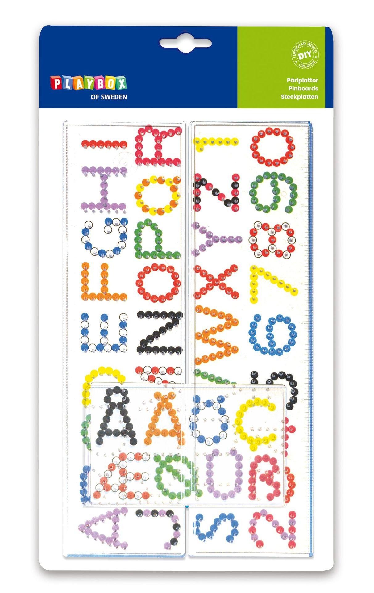 Steckplatten Buchstaben & Zahlen
