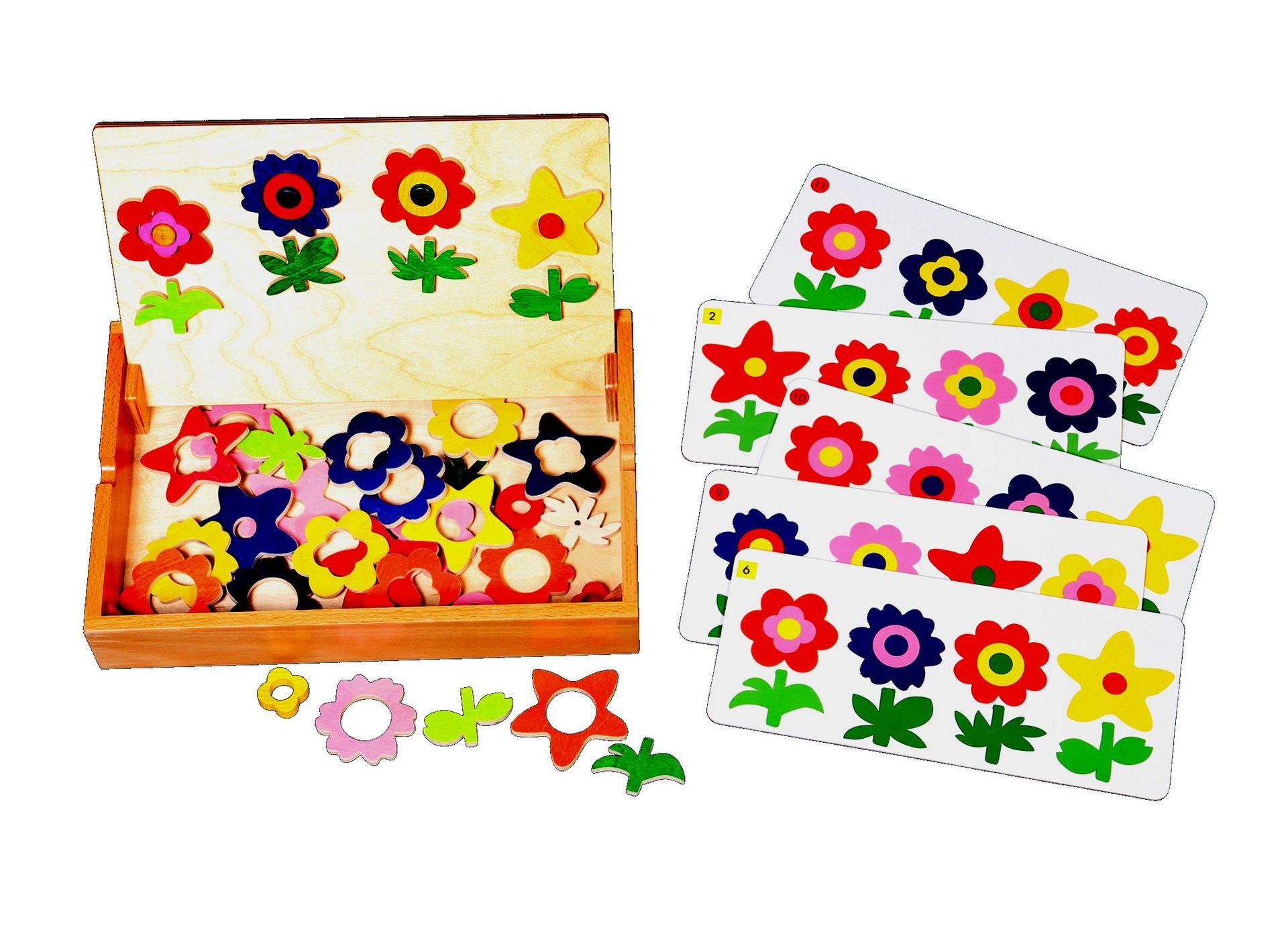 Blumenspiel mit Holzbox