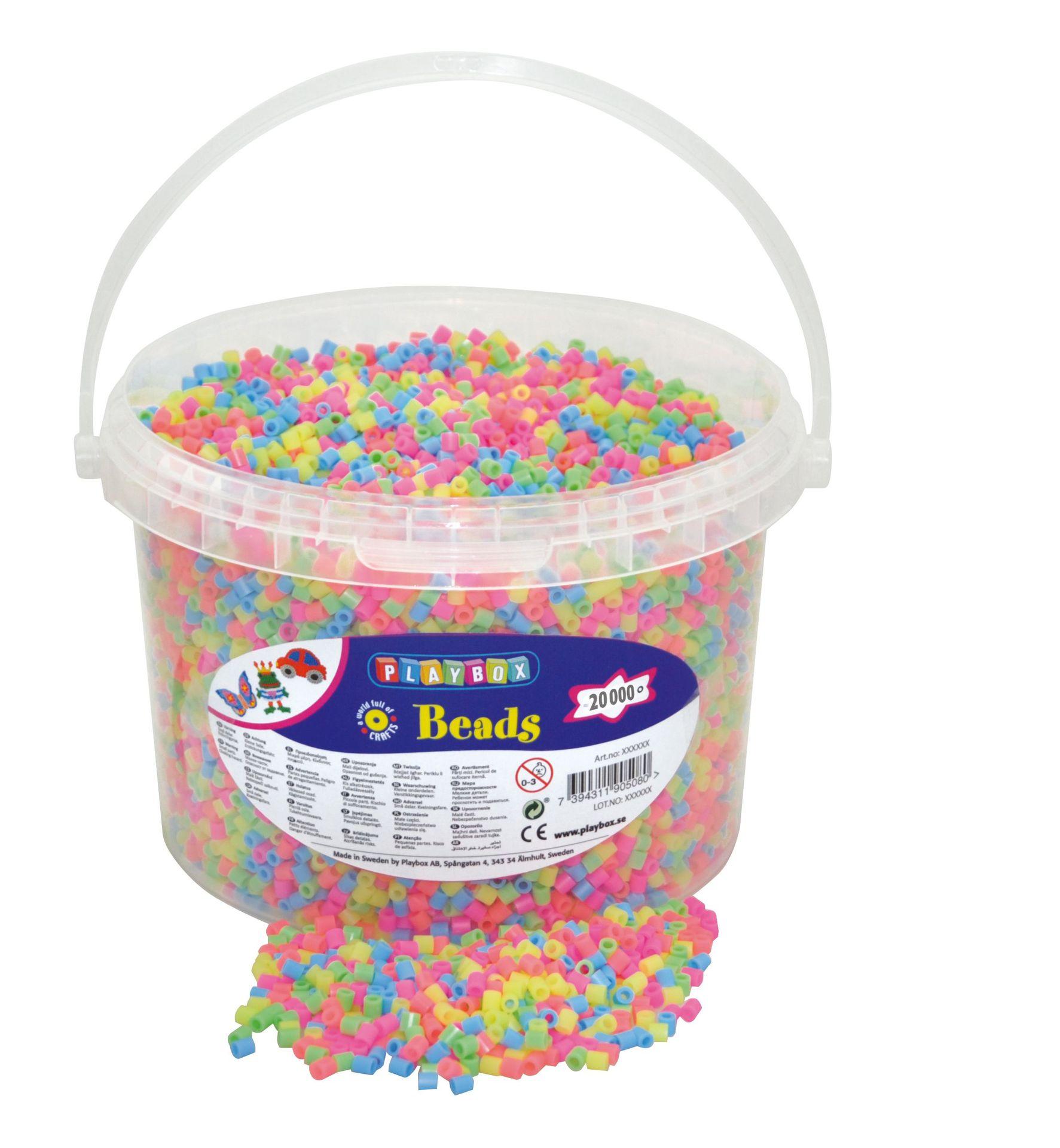 Bügelperlen Pastell-Mix