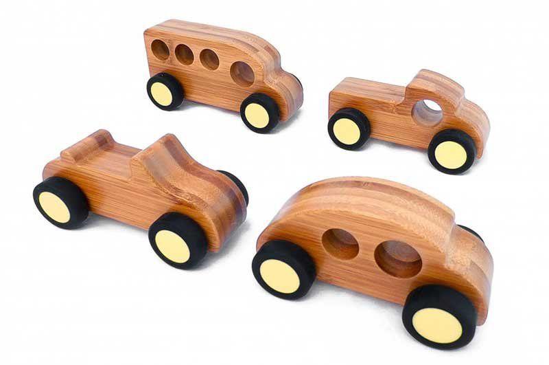 Bambus Spielautos, 8er Set