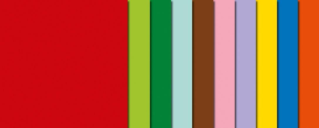Intensivfarbige Faltblätter, 20x20 cm
