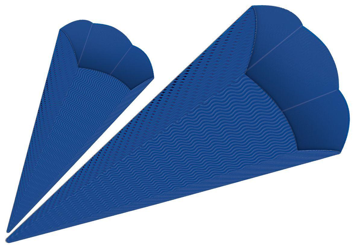 3D-Colorwellpappe-Schultüten, 5 Stück