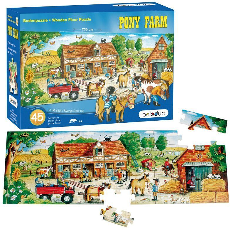 Bodenpuzzle Pony Farm