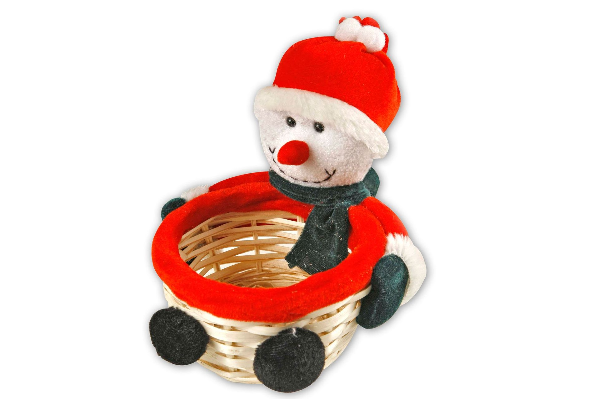 Weihnachtskörbchen Motiv Schneemann