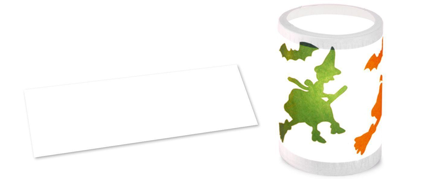 Laternenzuschnitte, Zeichentransparentpapier weiß